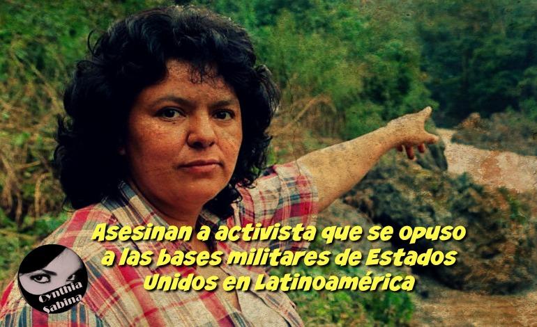Asesinan a activista que se opuso a las bases militares de Estados Unidos en Latinoamérica