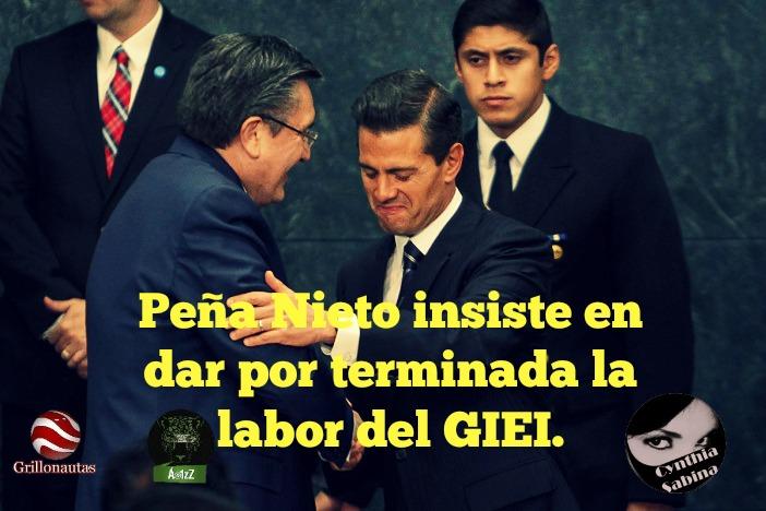 Peña Nieto insiste en dar por terminada la labor del GIEI.