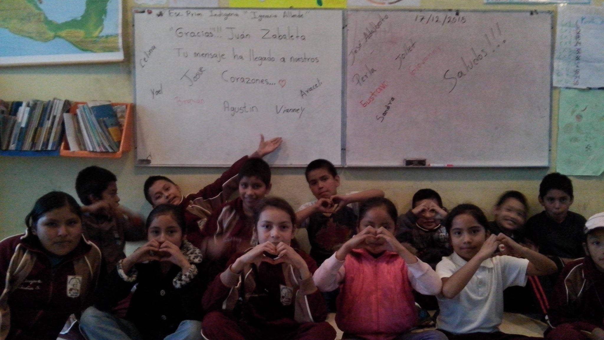 DONEMOS a una escuela primaria rural en el Estado de Hidalgo, México.