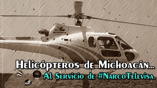 ¡A dónde vamos a parar! Usan helicópteros oficiales en Michoacán, para pasear al Buki en Caleta de Campo.