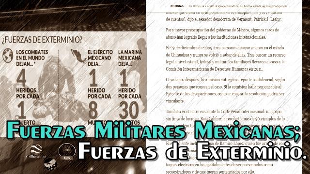 Las fuerzas armadas mexicanas son letales, mucho más de lo normal: NYT.