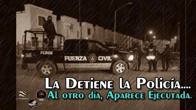 Policía detiene a mujer en Galeana, NL; después aparece ejecutada.