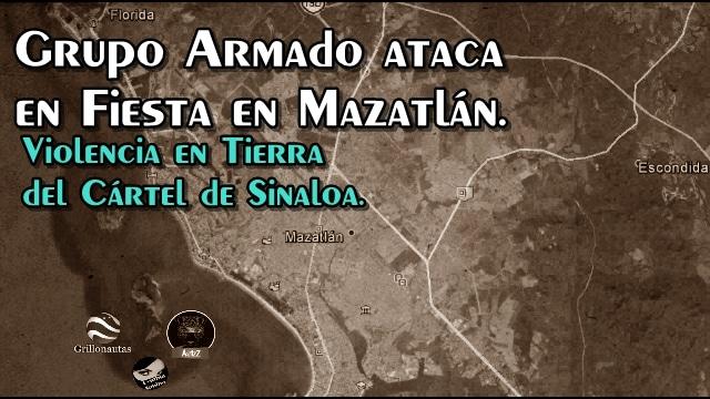 Grupo armado irrumpe en fiesta de quince años en Mazatlán; mata a dos, uno era menor.