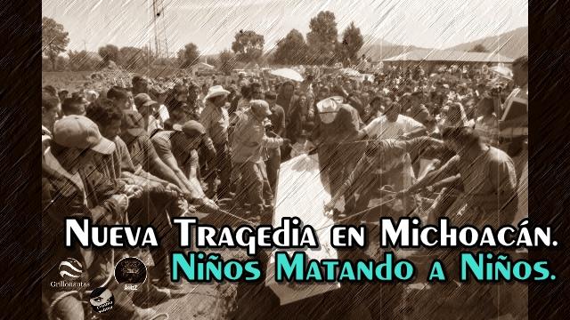 Niños y niñas matan a golpes a un compañerito de escuela en Opopeo, Michoacán.