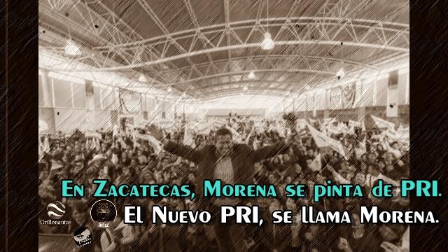 Morena Zacatecas sigue sume y sume priístas a sus filas.