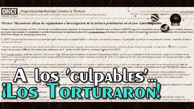 #Ayotzinapa, una investigación con 'culpables' torturados: OMCT.