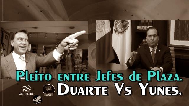 Se pelean los delincuentes Yunes y Duarte.