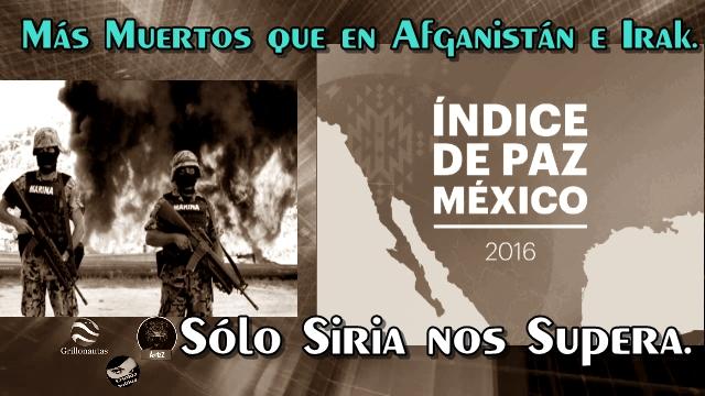 México está en guerra. Más muertos que en Afganistán e Irak.