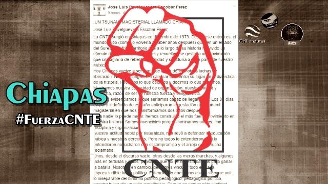 Ojalá todo México fuera como Chiapas; ojalá cada lucha fuera como la de la CNTE.