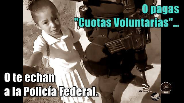 Directora de kinder en Matamoros usa PF para que padre pague 'cuota voluntaria'.