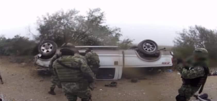 Militares salvan la vida a un sicario en Miguel Alemán, Tamaulipas. (Video)