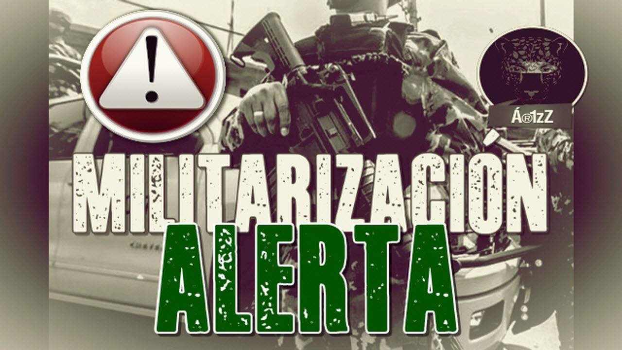 Cada vez más cerca la militarización del país.