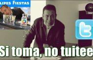 El delincuente Moreira pide que ya no dejen tuitear al delincuente Calderón cuando ande briago; es decir, siempre