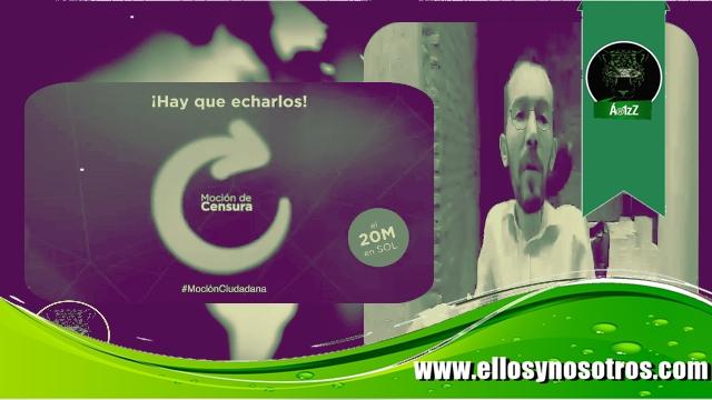 #MociónCiudadana. Pablo Echenique y Podemos llaman a manifestación el 20 de Mayo