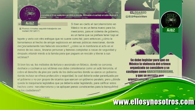 Periodistas del Diario de Coahuila piden la intervención de la OTAN en México