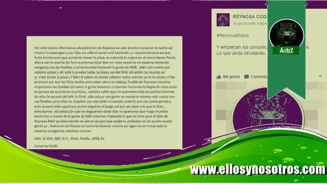 CDG envía mensaje al M42, al gobierno y a la población de Reynosa