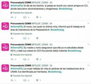 Protesta en la UNAM por feminicidio de Lesvy
