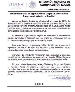 soldados muertos en Palmarito