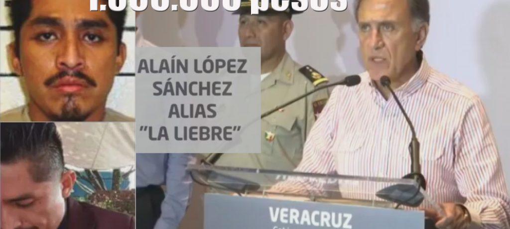 Yunes ofrece un millón de pesos por La Liebre