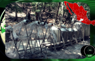 Ejército desmantela 'cocina' en Angahuán, Mpio. de Uruapan, Michoacán