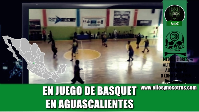 Intentan ejecutar a una persona en pleno juego de basquetbol en Aguascalientes