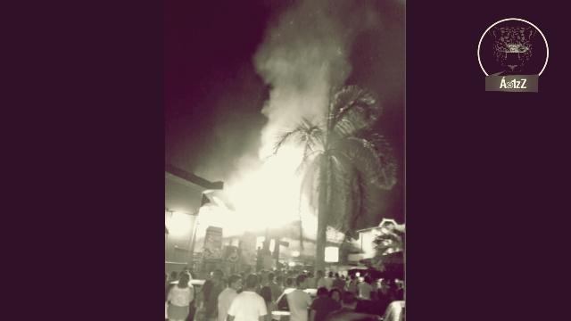 Grupo armado incendia el bar La Malkerida en Ixtapa, donde hace una semana mataron a 4 personas