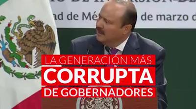 La lista de los gobernadores más corruptos de México