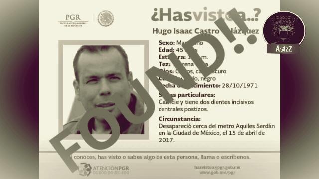 Localizan con vida a Hugo Castro, activista de Ángeles de la Frontera