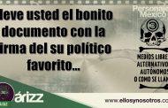 Lleve usted el bonito documento con la firma de su político favorito. Sobre el supuesto documento del PAN contra Morena.