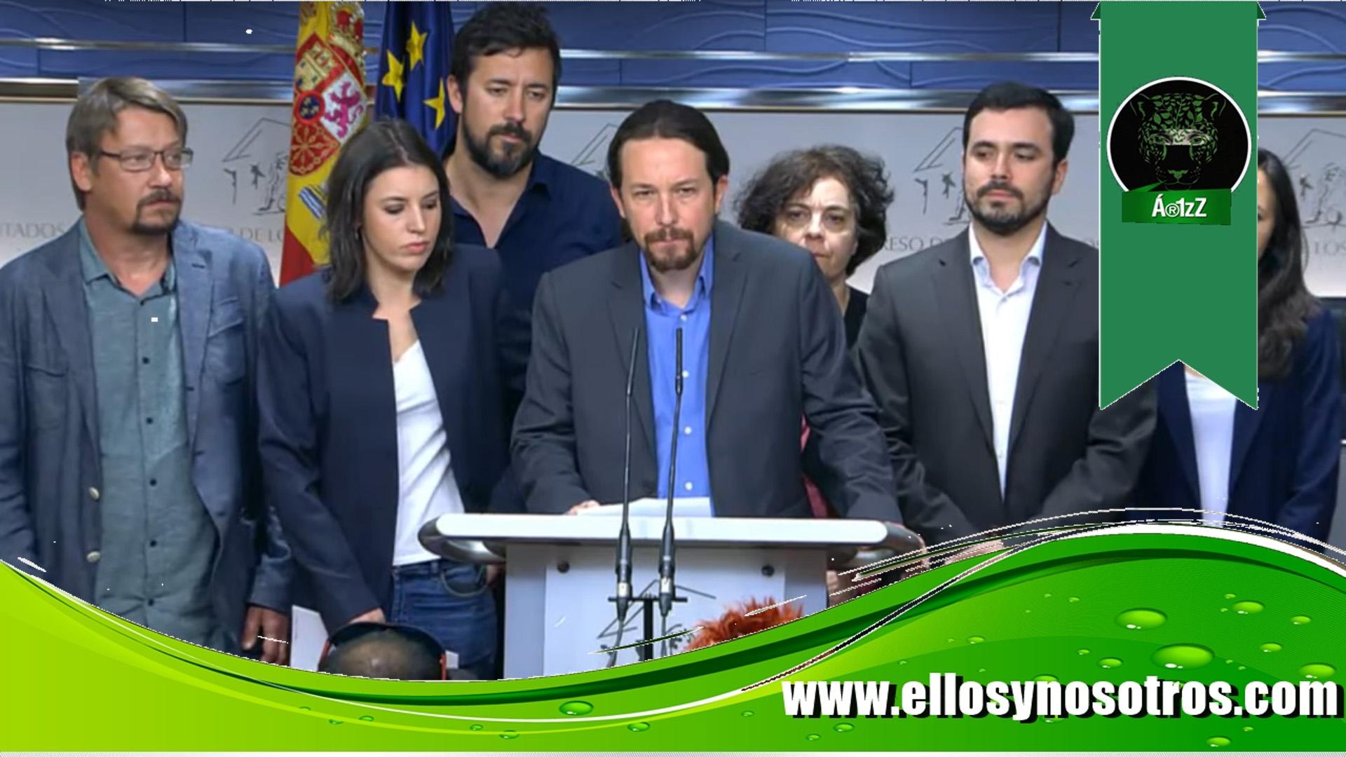 Unidos Podemos promueve una moción de censura a Rajoy
