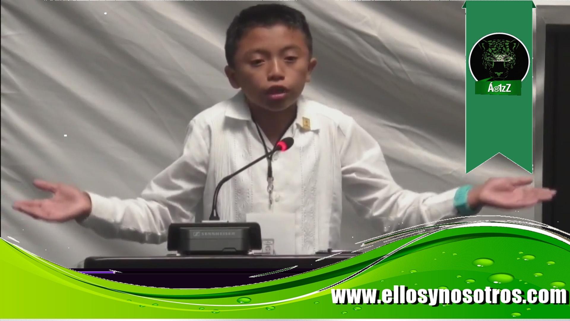 El niño que enfrenta la corrupción de los políticos en el Congreso de Quintana Roo (video viral)