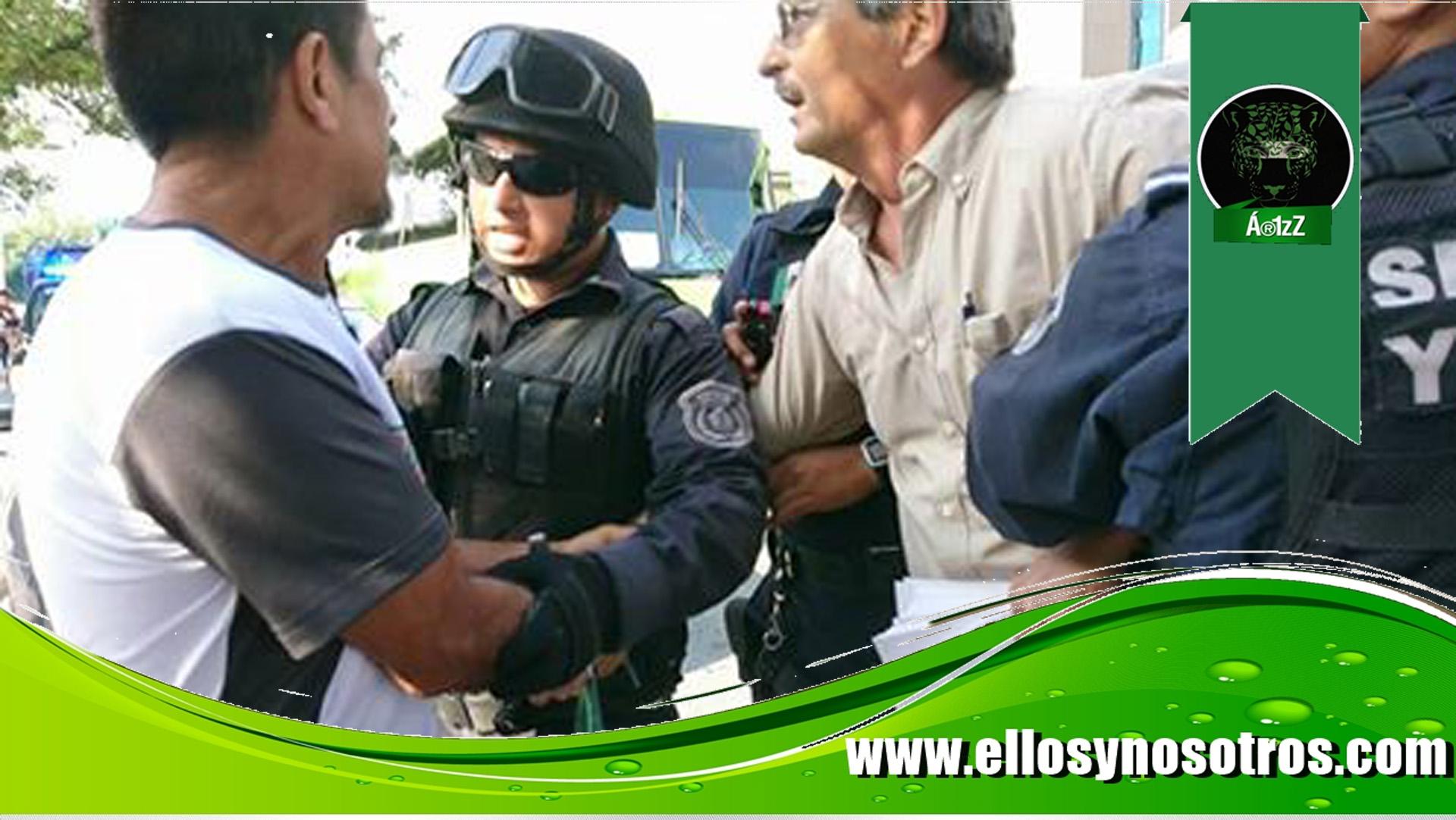 Detienen a líder magisterial en Monterrey (Nuevo León) en protesta del Día del Maestro