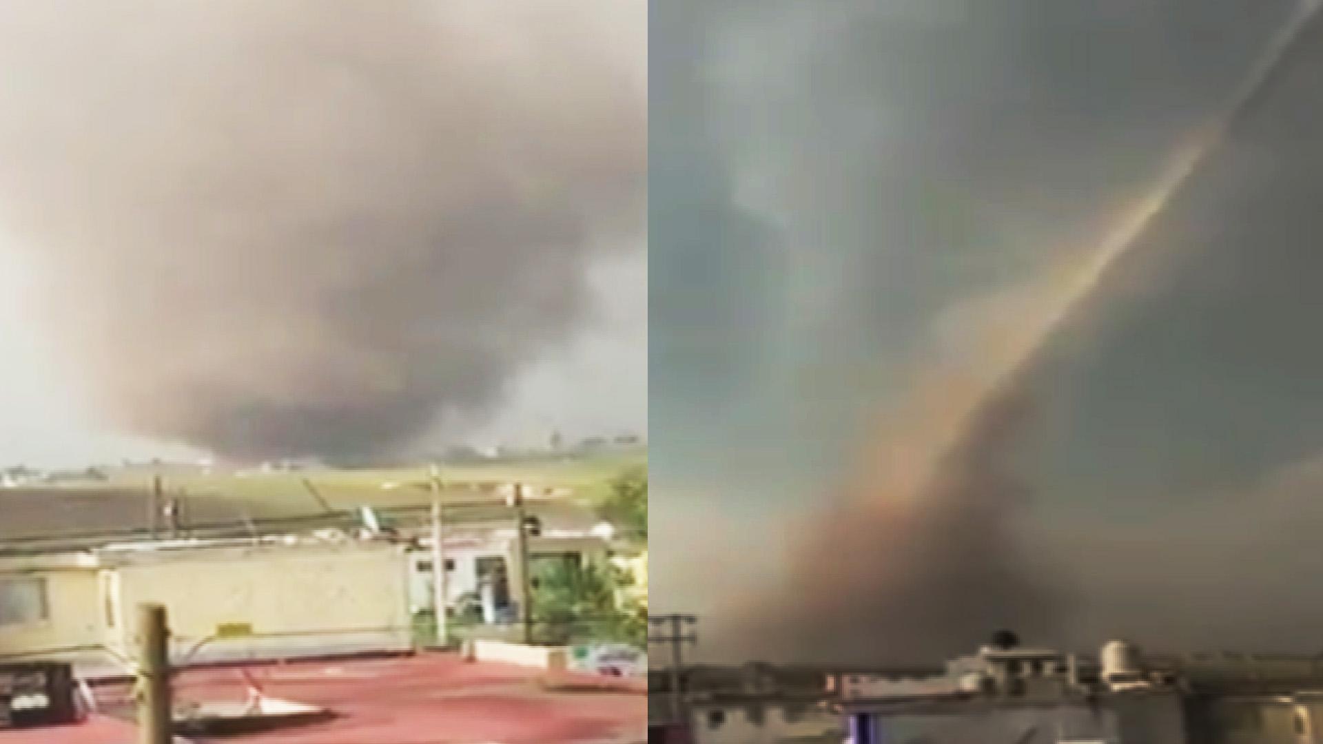 Impresionante tornado en Toluca deja 13 viviendas afectadas, arranca árboles y un poste eléctrico