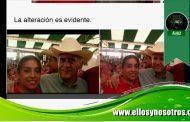 Rocío Nahle altera una foto para vincular a mujer que dio huevazo a AMLO, con Yunes