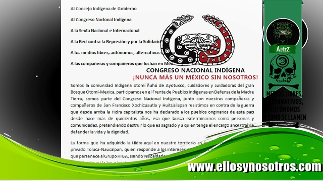 Comunicado de Ayotuxco (CNI) sobre la Autopista Toluca-Naucalpan