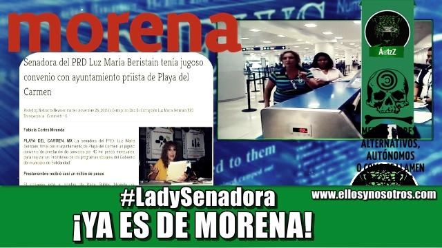 Bart, ¿te acuerdas de la #LadySenadora? ¡Volvió, pero ahora es de Morena!