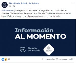 Operativo Antisecuestro en Tlaquepaque, Jalisco