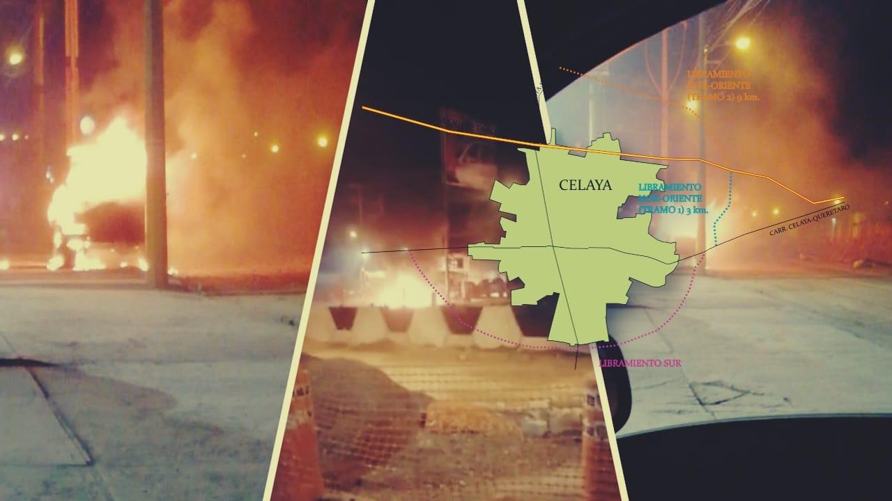 Arde Celaya; el campo de batalla del CSRDL y del CJNG