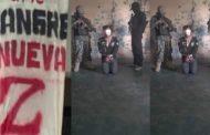 Zetas interrogan a miembro de Sangre Nueva Zeta, bajo el mando de «El Bukanans»