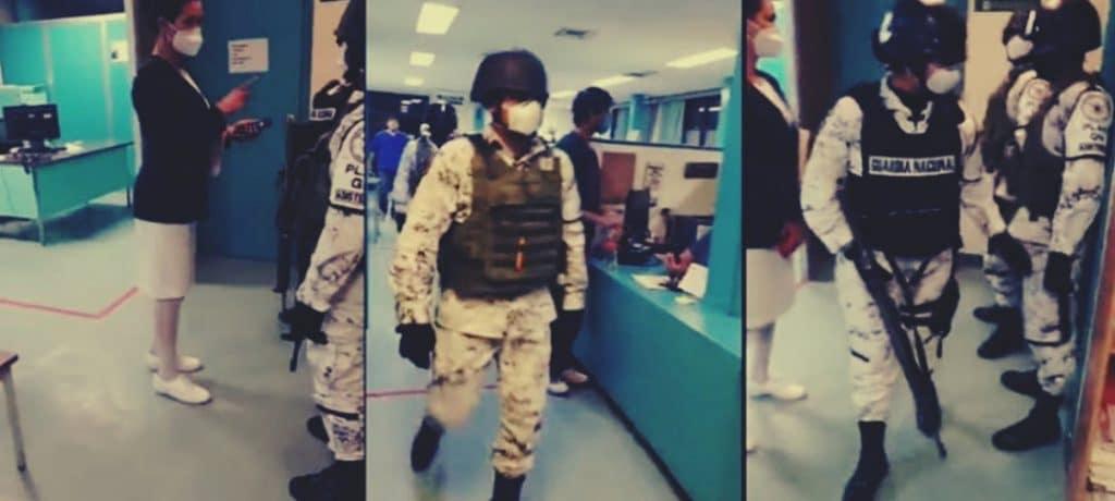 En el IMSS en Cd. Juárez protestaron; les mandan la Guardia Nacional