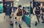Médicos del IMSS en Cd. Juárez protestaron; el gobierno los disuelve usando la Guardia Nacional