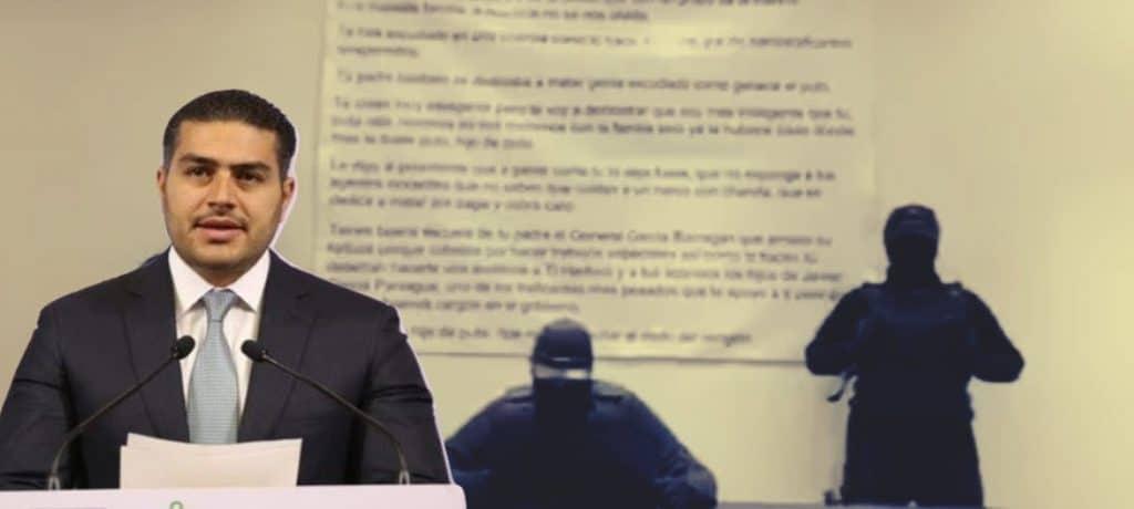 Otra vez contra García Harfuch, '...no voy a quitar el dedo del renglón..., le dicen en un video