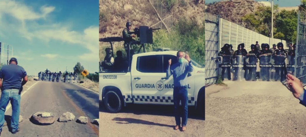 Guardia Nacional reprime agricultores en Chihuahua