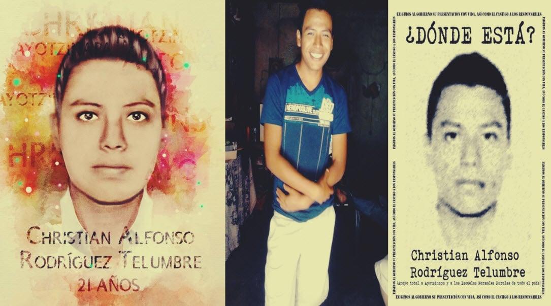 Identifican los restos del compañero normalista de Ayotzinapa Christian Alfonso Rodríguez Telumbre